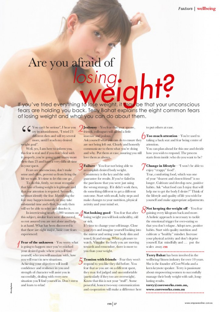 Are you afraid of losing weight-pic