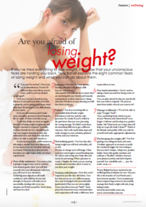 losing weight magazine article